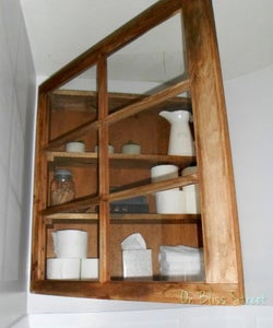 Upcycled Window Cabinet