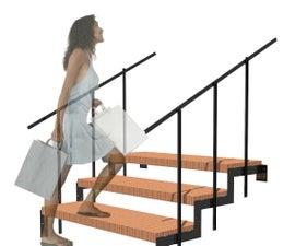 Modular Interlocking Steel Staircase