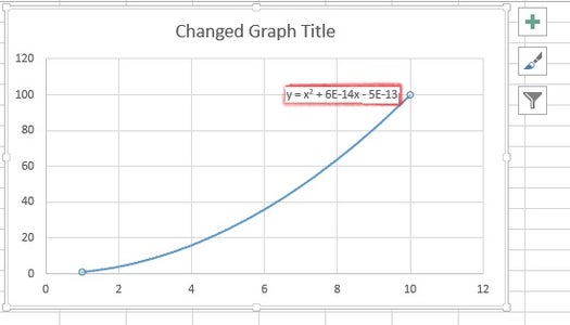 You Should Now See an Equation Somewhere Near Your Graph's Line.