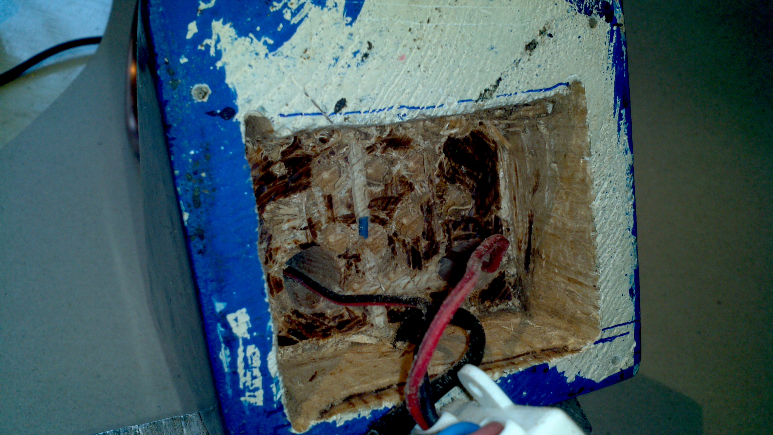 Picture of Holes for Copper Tube, Recess for Power Supply and Holes for Wires
