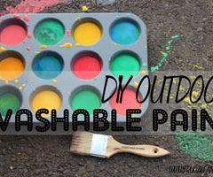 DIY Washable Outdoor Sidewalk Paint