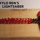 Kylo Ren Lightsaber String Art