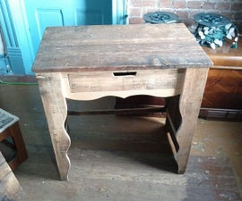 Reproduction of a small desk from Texas