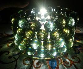 Handmade marbles CD Chandelier
