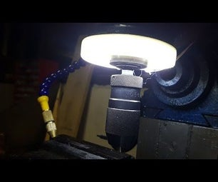 Simple LED Ring Light for a Mill/drill
