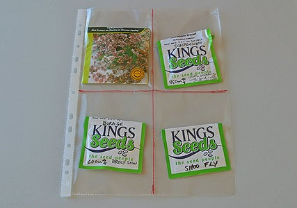 Insert One Seed Packet Per Quarter