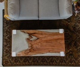 How to Make a Rad Concrete Coffee Table With Live Edge Cherry Slab
