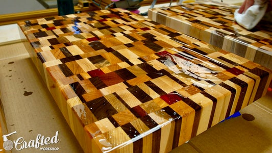 Apply Finish to End Grain Cutting Boards & Add Rubber Feet