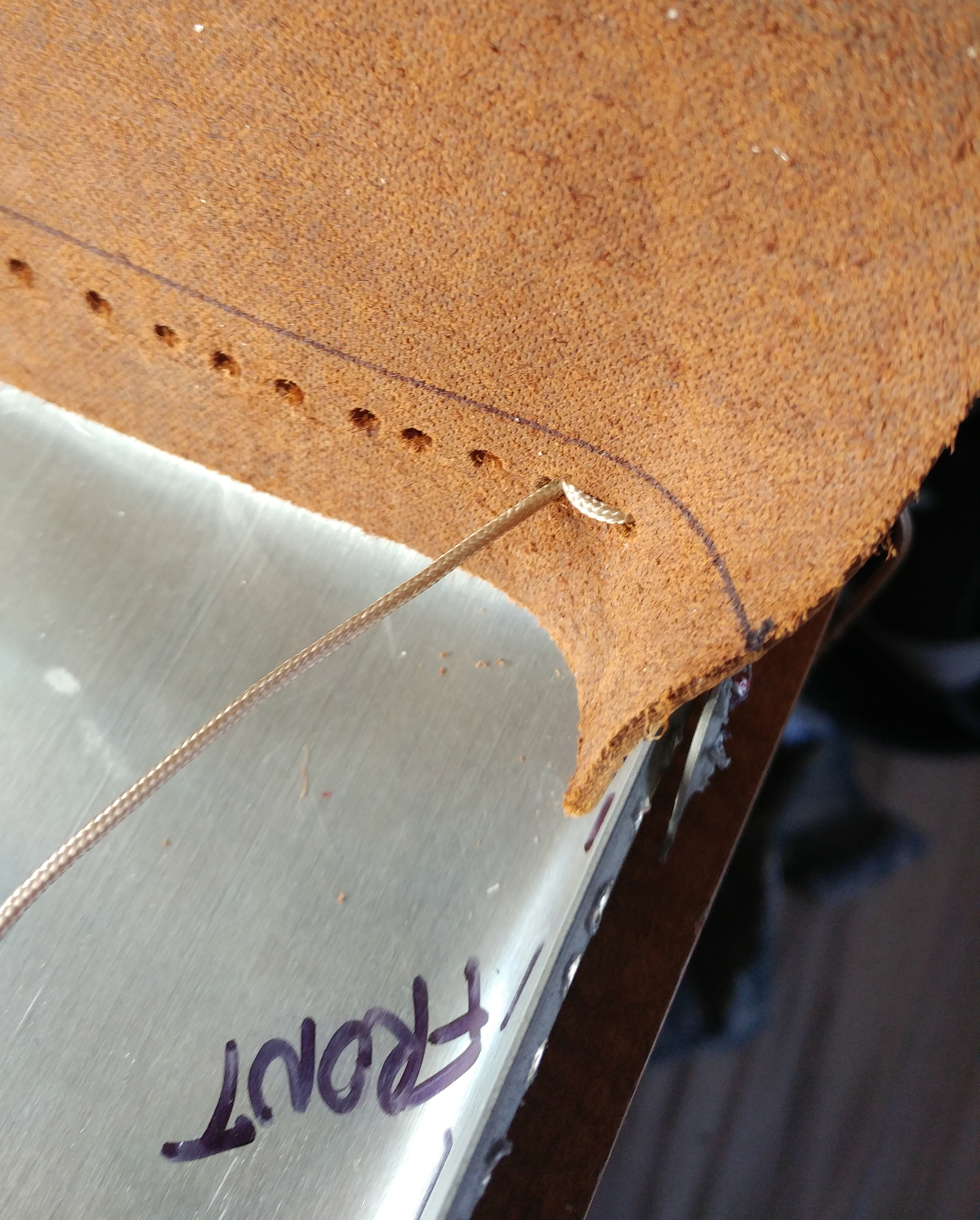 Picture of Lacing (bottom of Sides to Top of Bottom)