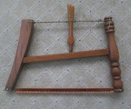 Emergency Bow Saw Made With a Swiss Army Knife From a Discarded Chair