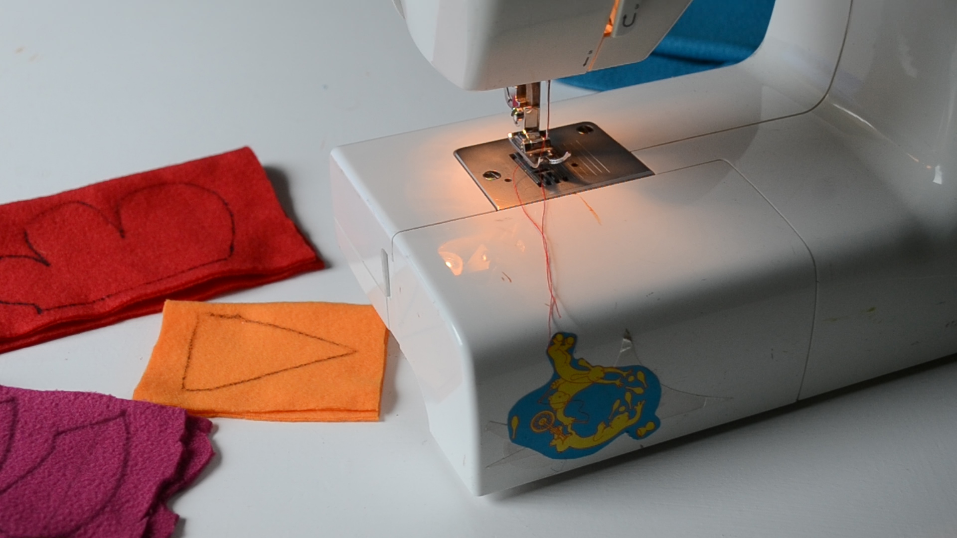Picture of Preparing the Features:sewing, Cutting & Stuffing