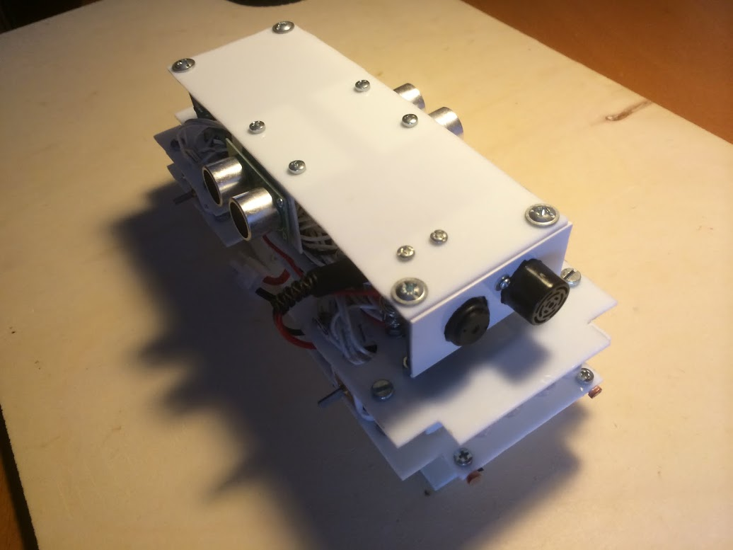 Picture of Mounting the Two Side Ultrasonic Sensor