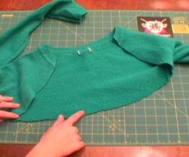 How to Make a Shrug and Skirt Set out of a Sweater