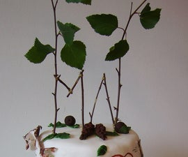 easy, fast and cheap cake topper