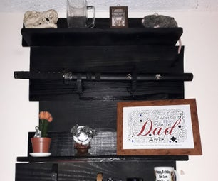 Wood Pallets Into Organised Wall Feature