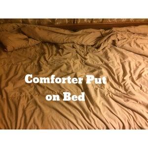 Put on Comforter.