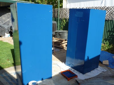 Box and Blue Paint