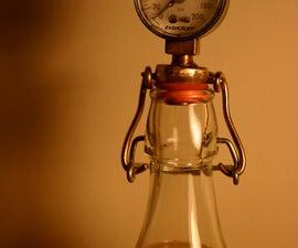 Brewing Pressure Gauge in a Bail Top Bottle
