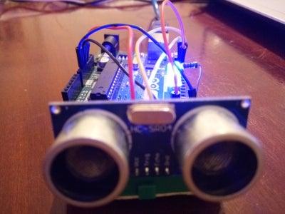 Simple Project With the Ultrasonic Sensor (HC-SR04) +LED -Arduino Tutoriel-