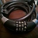 Unlock 4 digit cable lock
