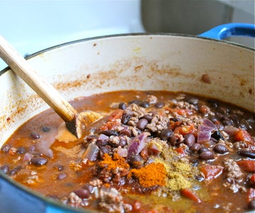 Add Spices and Simmer