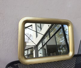 Super Easy Mirror With Frame