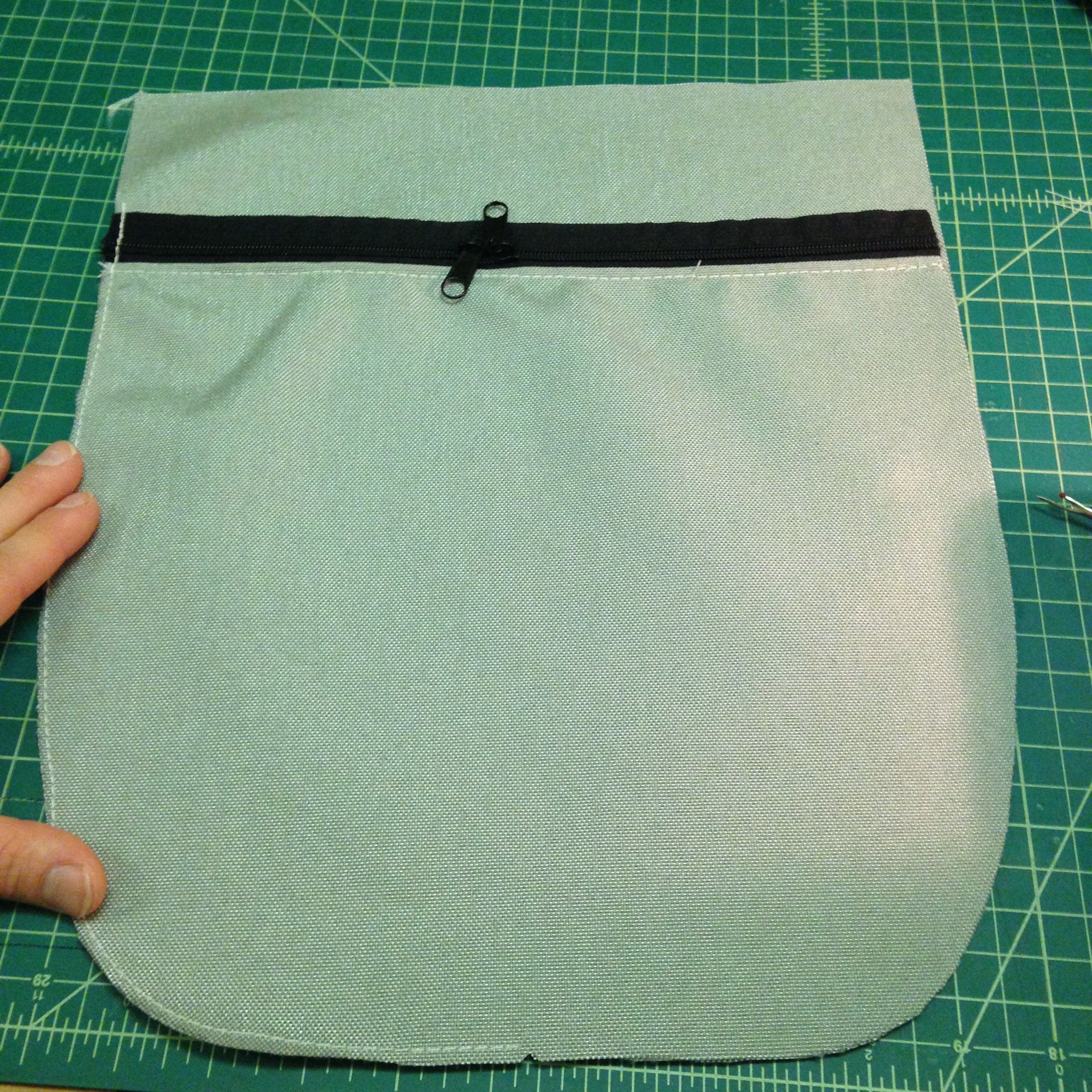Picture of Sew the Zipper Pouch to the Front Panel (optional)