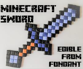 MInecraft Sword - From Fondant