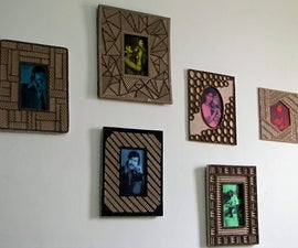 Designer cardboard photo frames, a mega tutorial