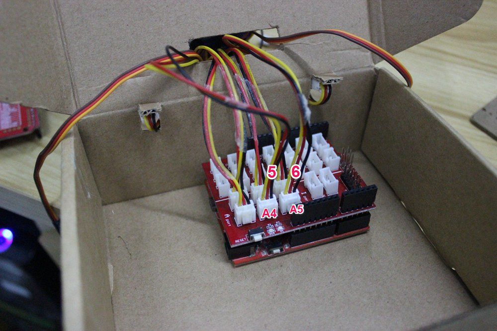Picture of Connect the Potentiometer to the Shield