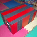 A PLYOBOX construction, AKA jump box or  exercise step crate.