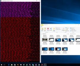 Rainbow Matrix Batch file