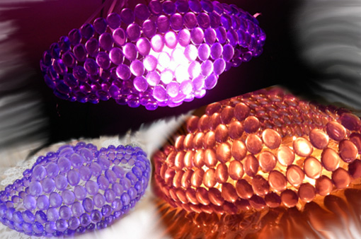 Picture of Crystal Lights Using Electric Bulbs or Candles