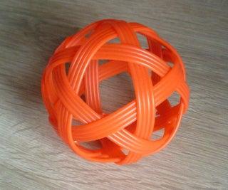 6 Strip Woven Ball - an Alternate Method