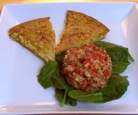Farinata (Chickpea Flatbread) with Tomato & Corn Tartare - Vegan & Gluten Free