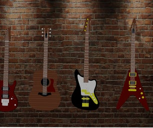 Guitars for KeyChain or Wall