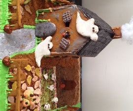 Halloween Gingerbread House (For Center Piece)