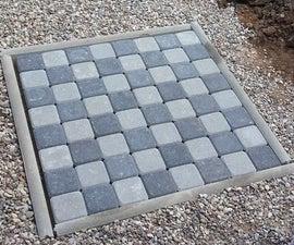 Garden chess board