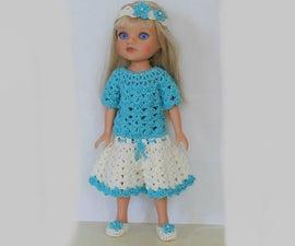 Crochet Doll Dress Outfit