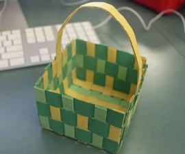 Sturdy Paper Basket (weaving)