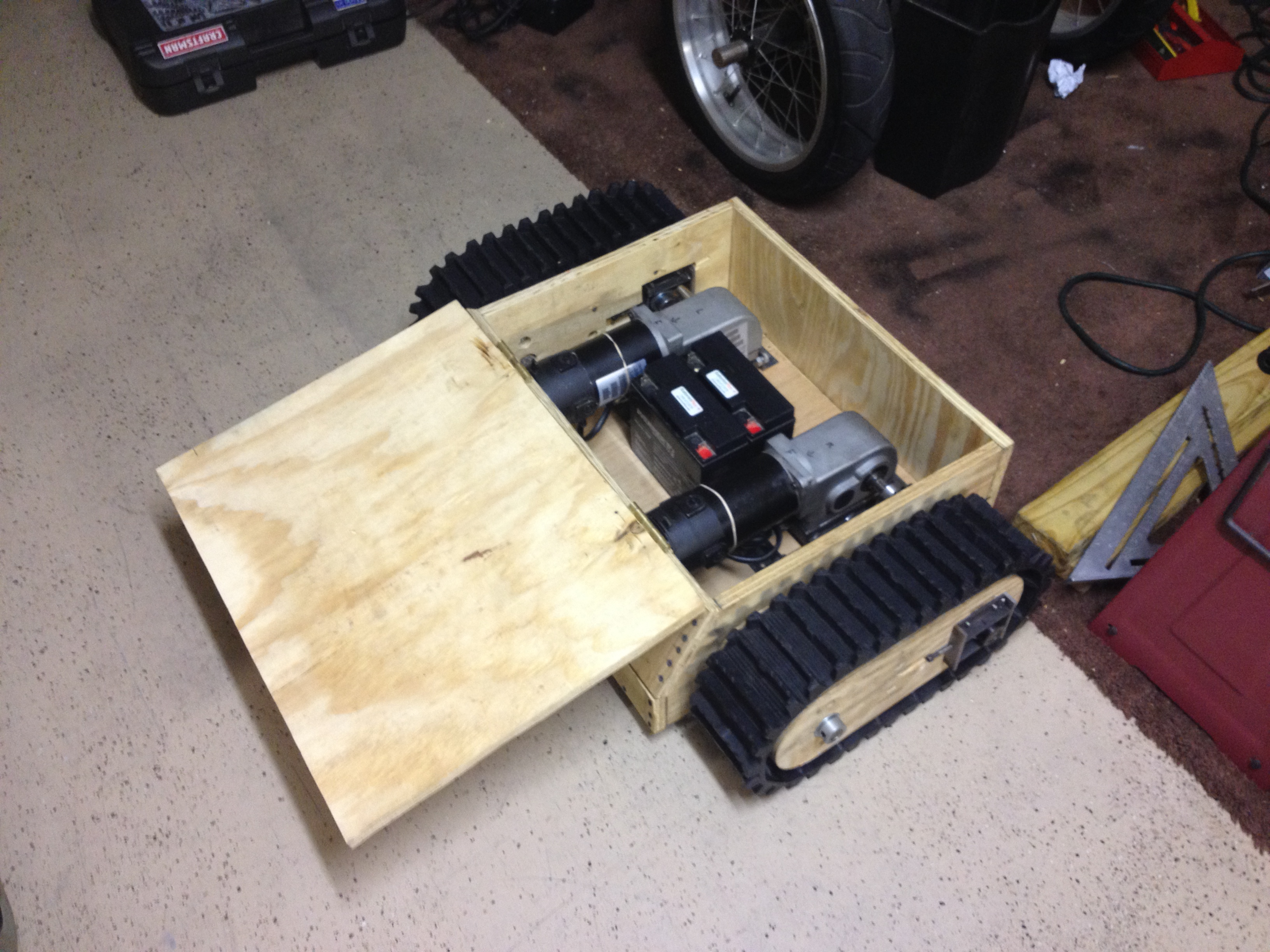Picture of Complete Motor Base Build & Installation