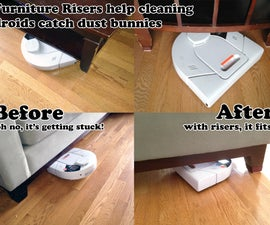 Furniture Risers - Help Cleaning Droids Catch More Dust Bunnies Under the Sofa