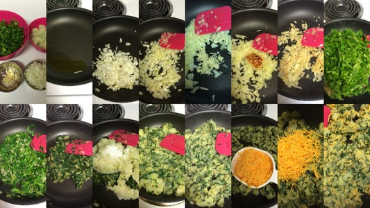 Steps to Prepare Potato and Spinach Stuffing