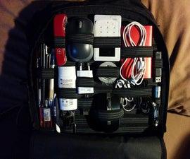 可定制的弹性带背包组织者