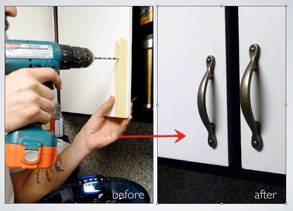 Picture of Installing Kitchen Cabinet Door Handles