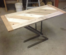 How to : Steel and Pallet Table / Reuse Refuse