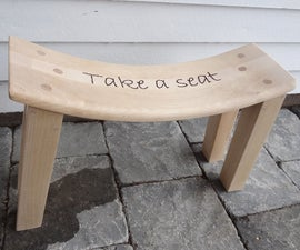 Recycle a chair into a stool