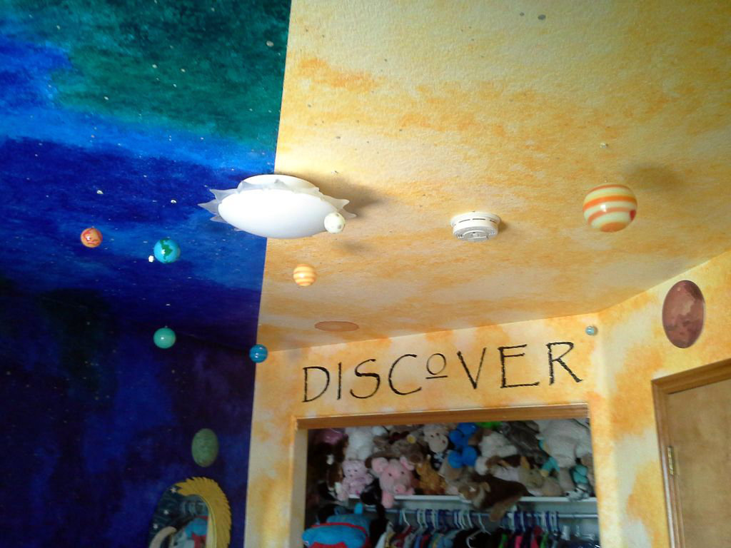 Picture of Adding Additional Paraphernalia to the Walls and Ceiling.