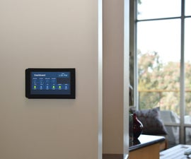 Flush Wall-Mounted Raspberry Pi Touchscreen