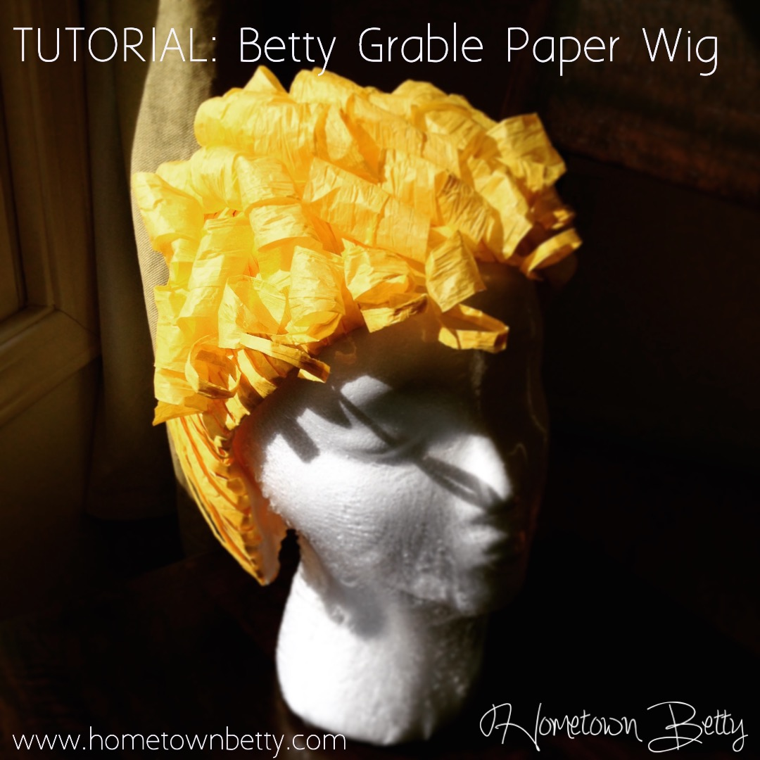 Picture of TUTORIAL: Betty Grable Paper Wig